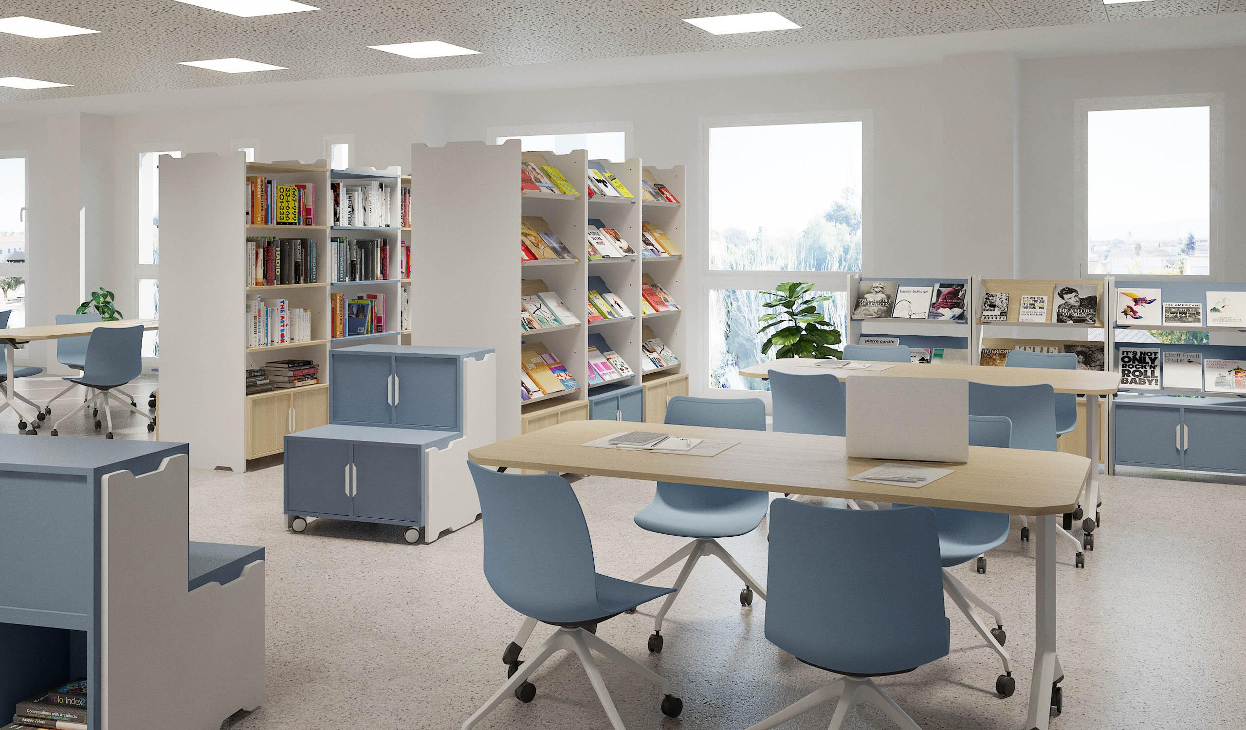 Vintiquatre Colección Tóteem collage office bliblioteca almacenaje mobiliario diseño
